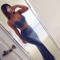 HOT STRAPS TWO PIECE LONG DRESS
