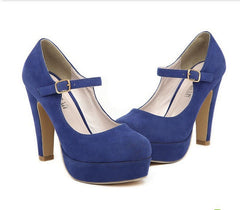 FASHION HIGH-HEELED SHOES FABRIC SURFACE SHOES