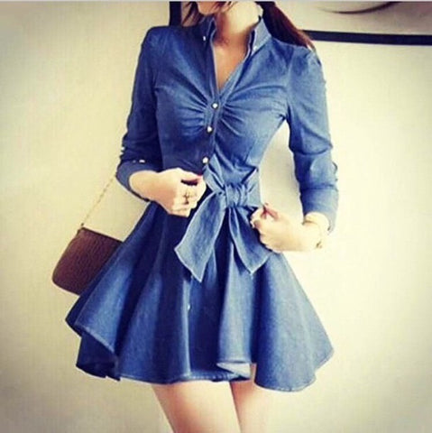 FASHION CUTE COWBOY FASHION BOW DRESS