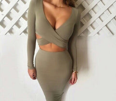 CUTE SEXY TWO PIECE CROSS DRESS