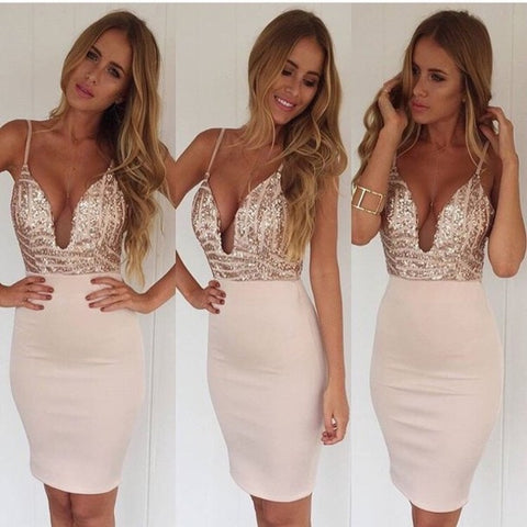 HOT STRAPS SHINING SEQUINS DRESS