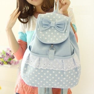 CUTE WAVE POINT BACKPACK BAG