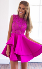 HOT FLOWER LACE DRESS