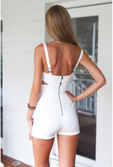CONDOLE BELT BACKLESS CONJOINED AT THE WAIST IS SEXY SHORTS ROMPER