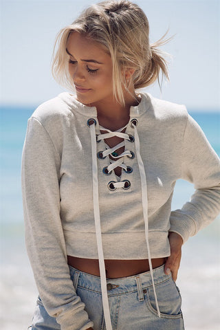 HOT DEEP V CUTE FASHION CROSS SWEATER