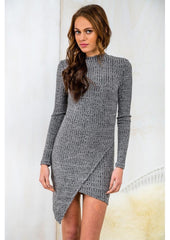 FASHION CUTE LONG SLEEVE IRREGULAR DRESS