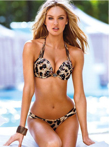 LEOPARD GRAIN CHARACTER GATHERED BIKINI SEXY TEMPTATION