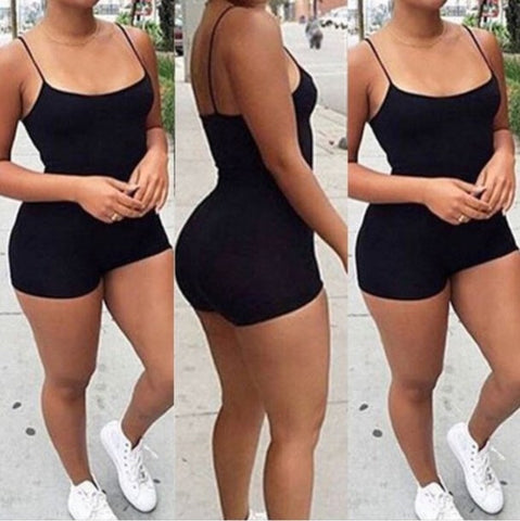 FASHION BLACK SHORT ROMPER