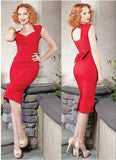 CUTE BACKLESS RED BOW NICE DRESS
