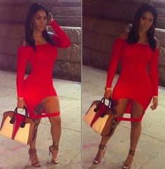 FASHION RED SEXY DRESS