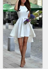 ON SALE HOT ELEGANT FRONT SHORT BACK LONG DRESS