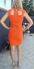 CUTE HOLLOW OUT SHOW BODY DRESS HIGH QUALITY