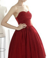 HOT RED STRAPLESS DRESS HIGH QUALITY LOWEST PRICE