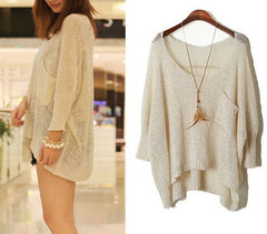 CUTE SOFT ROUND COLLAR SWEATER