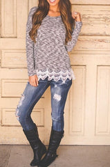 HOT SWEATER LACE FASHION DESIGN