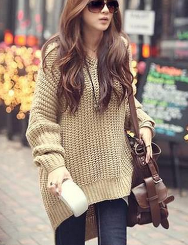 HOT PURE COLOR SWEATER