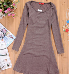 CUTE FRESH PURE COLOR SHOW BODY DRESS