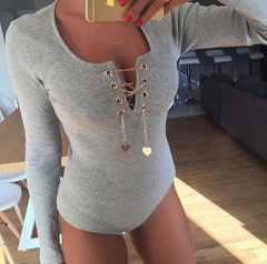 FASHION HIGH QUALITY ROMPER WITH CHAIN SHINING