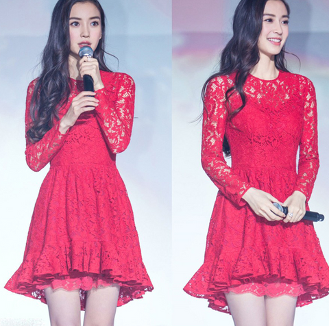FASHION CUTE LACE HOT DRESS