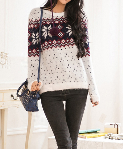 HOT Thick warm snowflake SWEATER