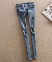 FASHION KNEE HOLE JEANS