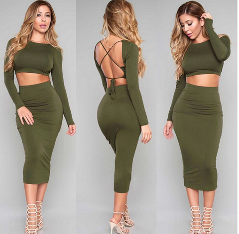 FASHION HOT TWO PIECE DRESS