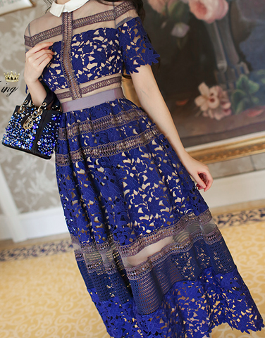 HOT LACE FASHION DRESS