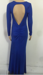 FASHION HOT BLUE LONG DRESS