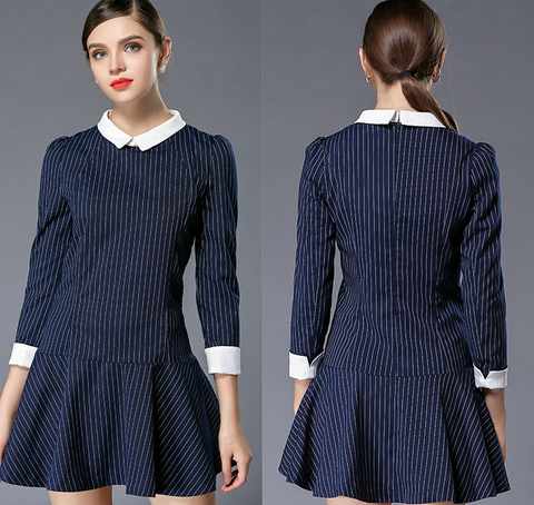 HOT STRIPE CUTE DRESS