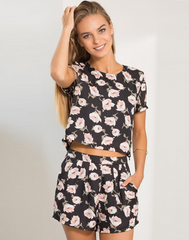 HOT FLOWER TWO PIECE JUMPSUIT