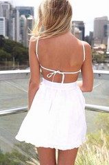 HOT BACKLESS SEXY STRAPS DRESS