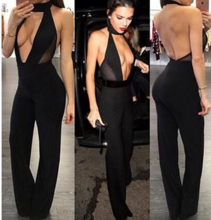HOT DEEP V FASHION JUMPSUIT