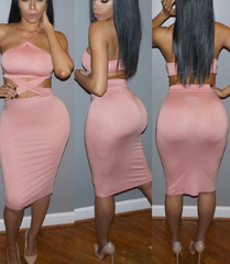 SEXY PINK HOT DRESS CROSS DRESS