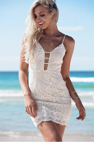 CUTE WHITE LACE DRESS