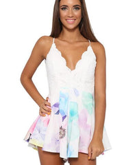 CUTE COLORFUL FLOWER PRITN ROMPER