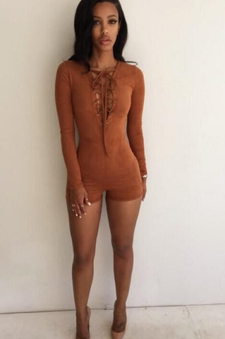 CUTE CROSS KNOT ROMPER