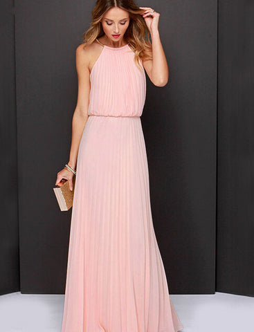 Cute chiffon long dress
