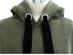 Loose pure color sets hooded fleece sports more pure cotton and wool fleece jumper HIGH QUALITY NOT THE POOR
