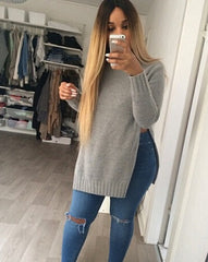 CUTE FORK LONG SLEEVE SWEATER