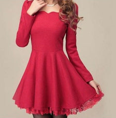 CUTE FASHION SHOW BODY LACE DRESS