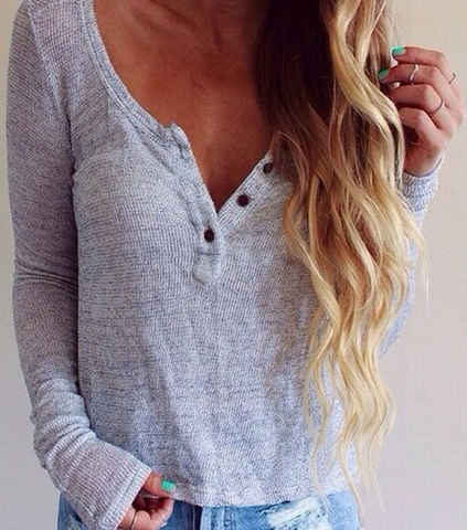 FASHION DEEP V SWEATER