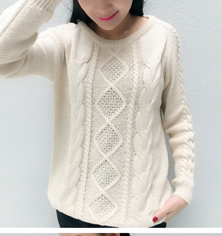 FASHION CUTE WOVEN SWEATER