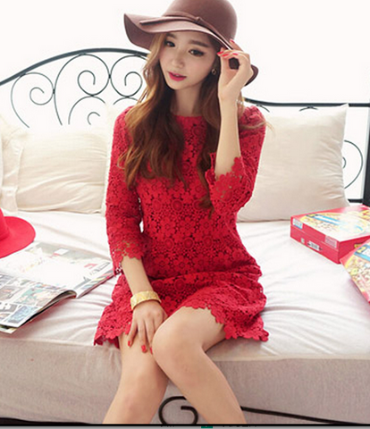 HOT HIGH QUALITY LACE DRESS