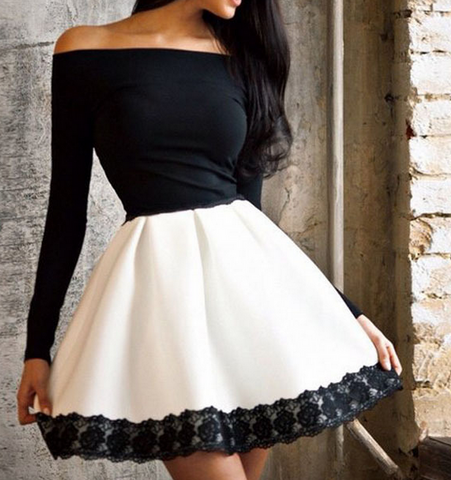 FASHION HOT OFF SHOULDER HIGH QUALITY DRESS
