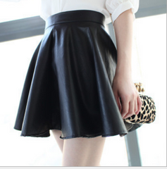 FASHION PU LEATHER SKIRT