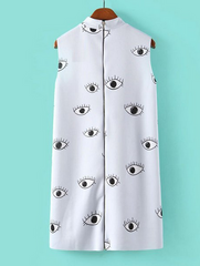 cute eyes vest dress