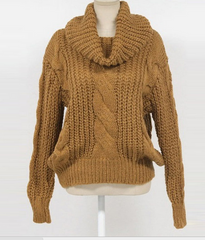 FASHION CUTE HIGH COLLAR SWEATER