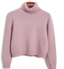 FASHION HOT SORT STYLE HIGH COLLAR WARM SWEATER
