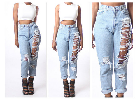 FASHION HOLE JEANS