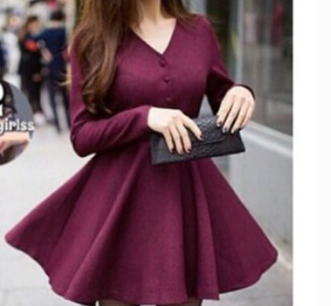 FASHION DEEP V SHOW BODY WINE RED DRESS HIGH QUALITY
